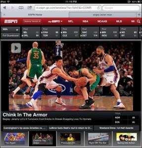 ESPN Mistake